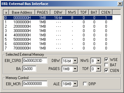 Exernal Bus Interface