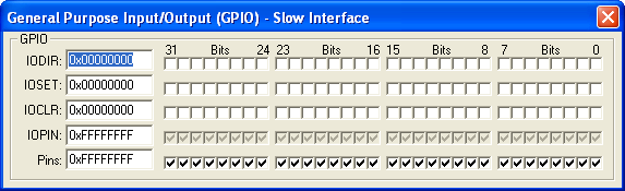 General Purpose Input/Output - Slow Interface
