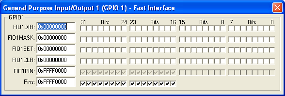 GPIO1 Fast Interface (16-bit)