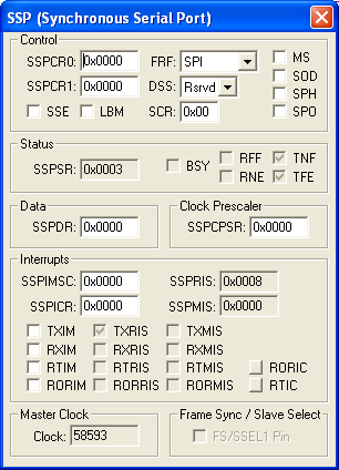 SSP (Synchronous Serial Port)