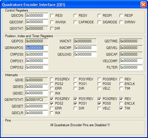 Quadrature Encoder Interface (QEI)