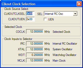 Clkout Clock Selection