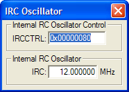 Internal RC Oscillator