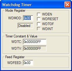 NXP (founded by Philips) LPC1768 Watchdog Timer (WDT