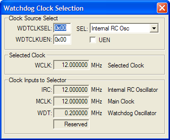 Watchdog Clock Selection