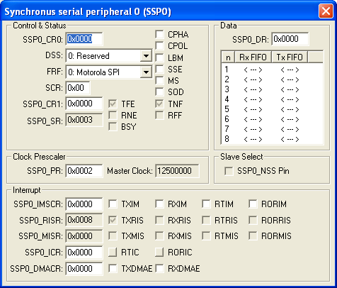 Synchronous Serial Peripheral 0