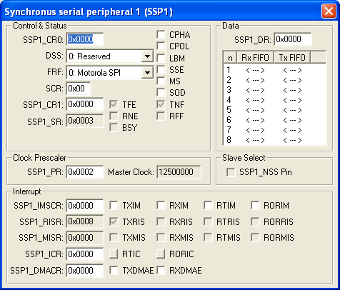 Synchronous Serial Peripheral 1