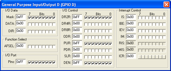 General Purpose Input/Output Port D (GPIOD)