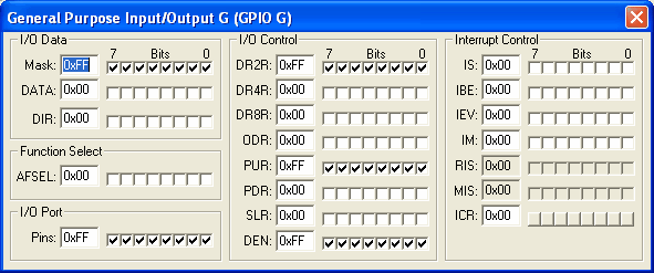 General Purpose Input/Output Port G (GPIOG)