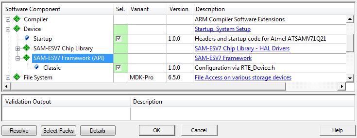 Configuration via RTE_Device h