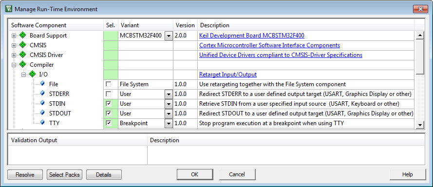 Retarget Input and Output via UART