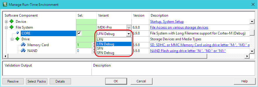 Create an Application Using the File System