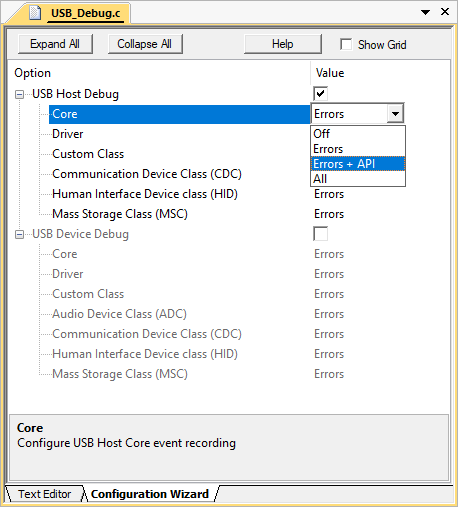 USB Host (MDK-Professional only)