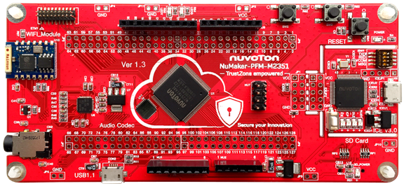 Nuvoton NuMaker M2351 development board