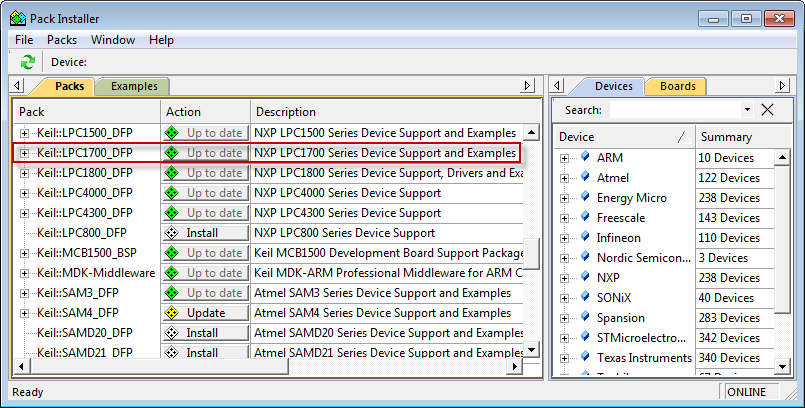 MCB1700 User's Guide: Creating an MDK V5 Project