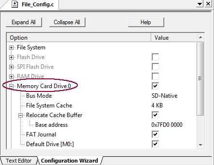 RL-ARM User's Guide (MDK v4): Memory Card Drive