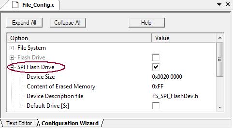 RL-ARM User's Guide (MDK v4): SPI Flash Drive