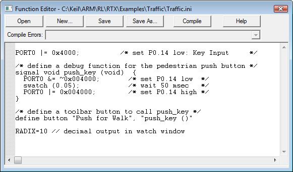 RL-ARM User's Guide (MDK v4): Traffic Example
