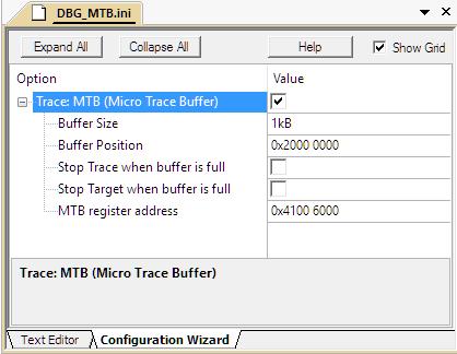 ULINKpro User's Guide: Enable MTB Trace