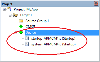 µVision User's Guide: Configure Startup Code
