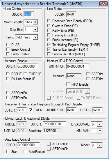 µVision User's Guide: UART Communication